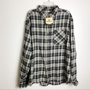 NWT Men's Woolrich Flannel Long Sleeve Shirt XL